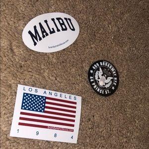 set of 3 brandy melville stickers